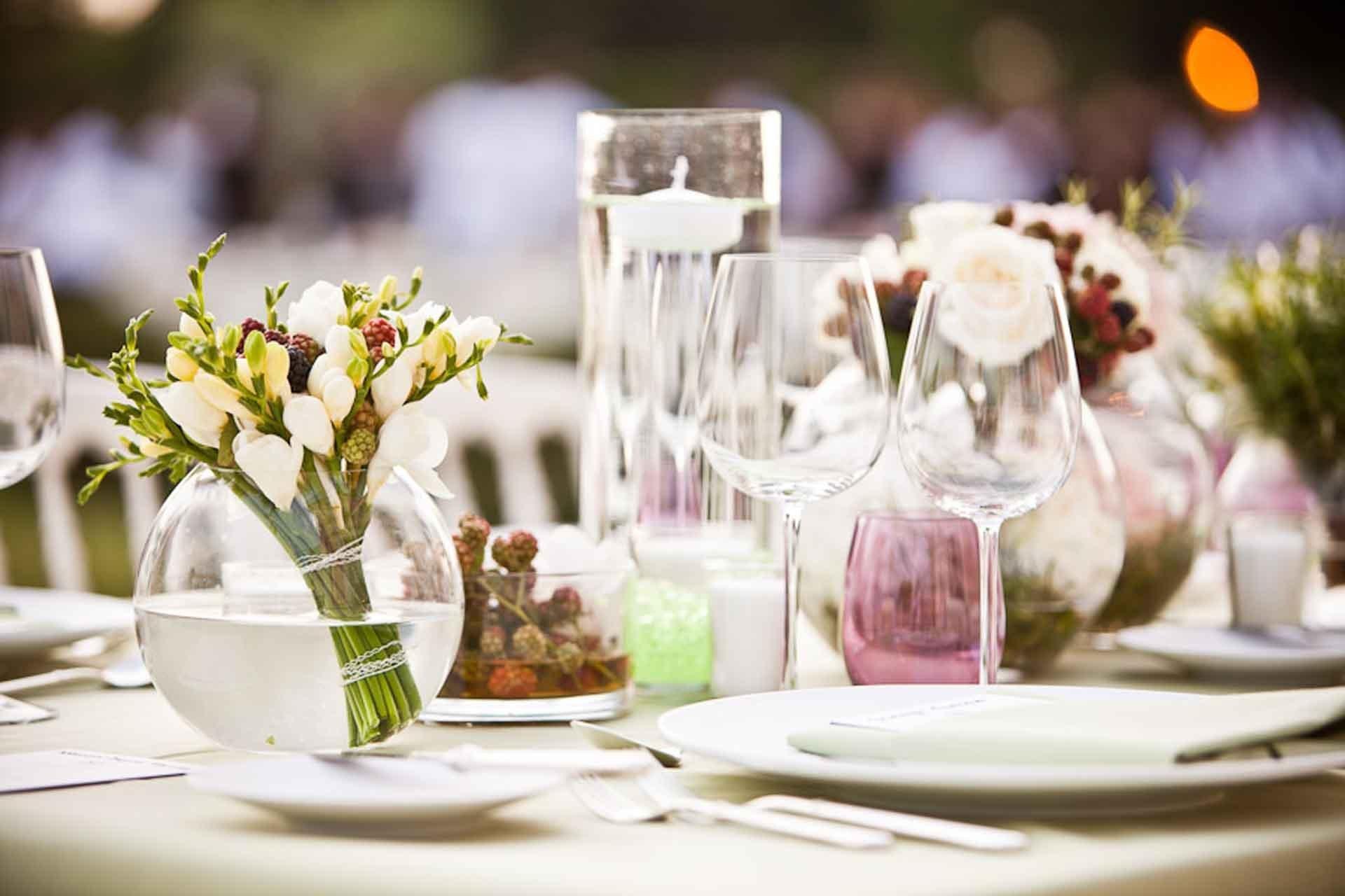 Un centre de table pour un mariage