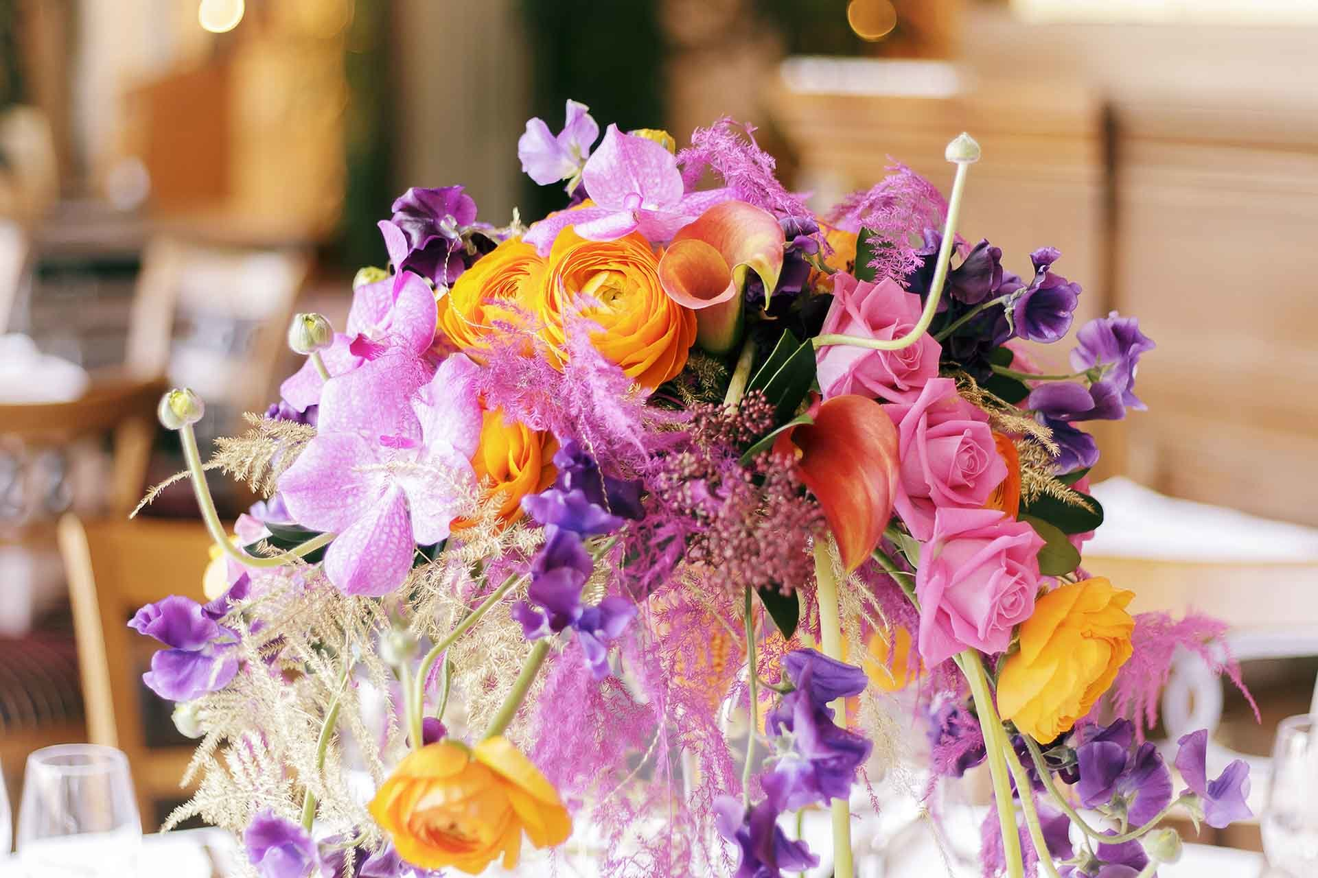 A creative and balanced floral composition