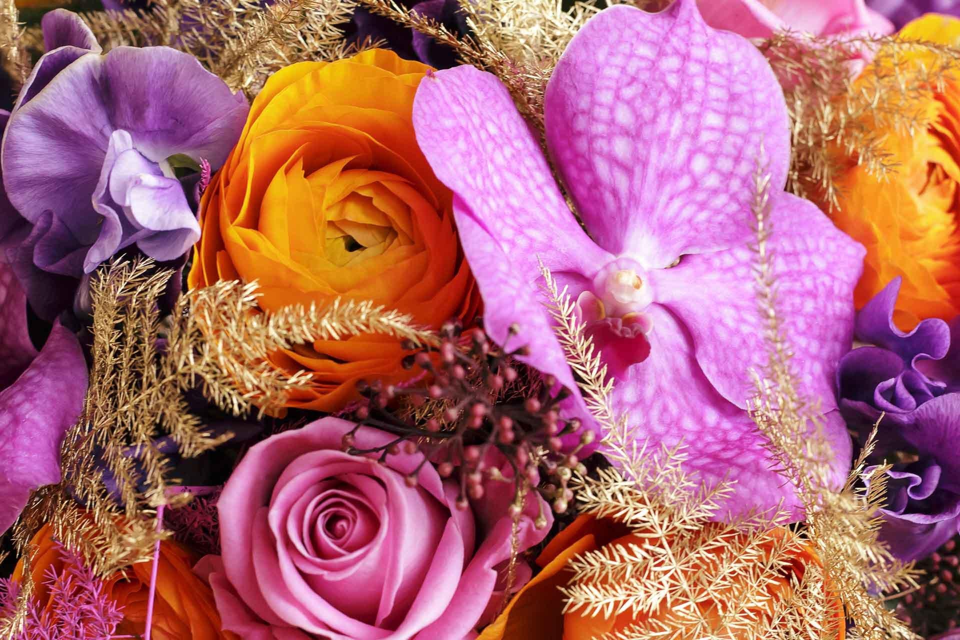 Un élégant bouquet avec orchidée