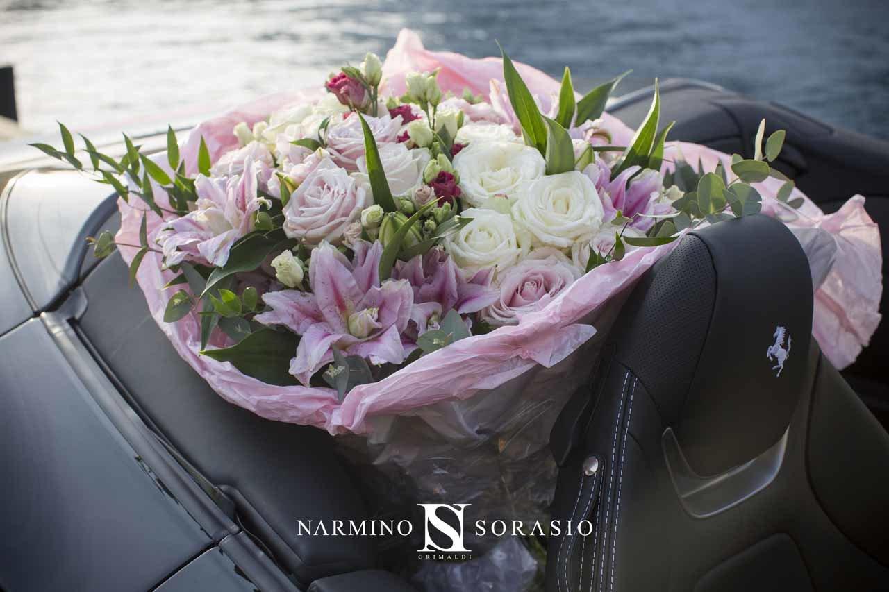 Splendid bouquet composed of various flowers