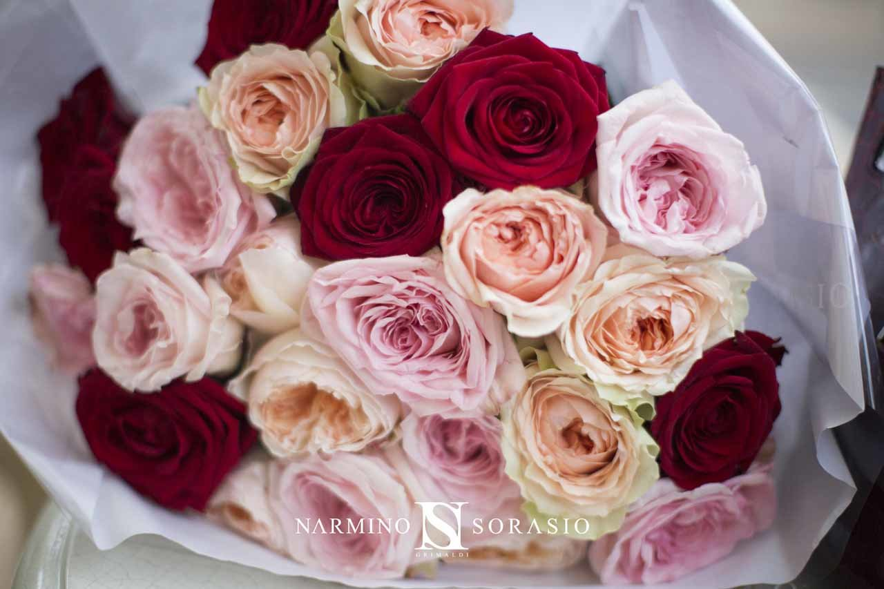Close up on a bouquet of roses