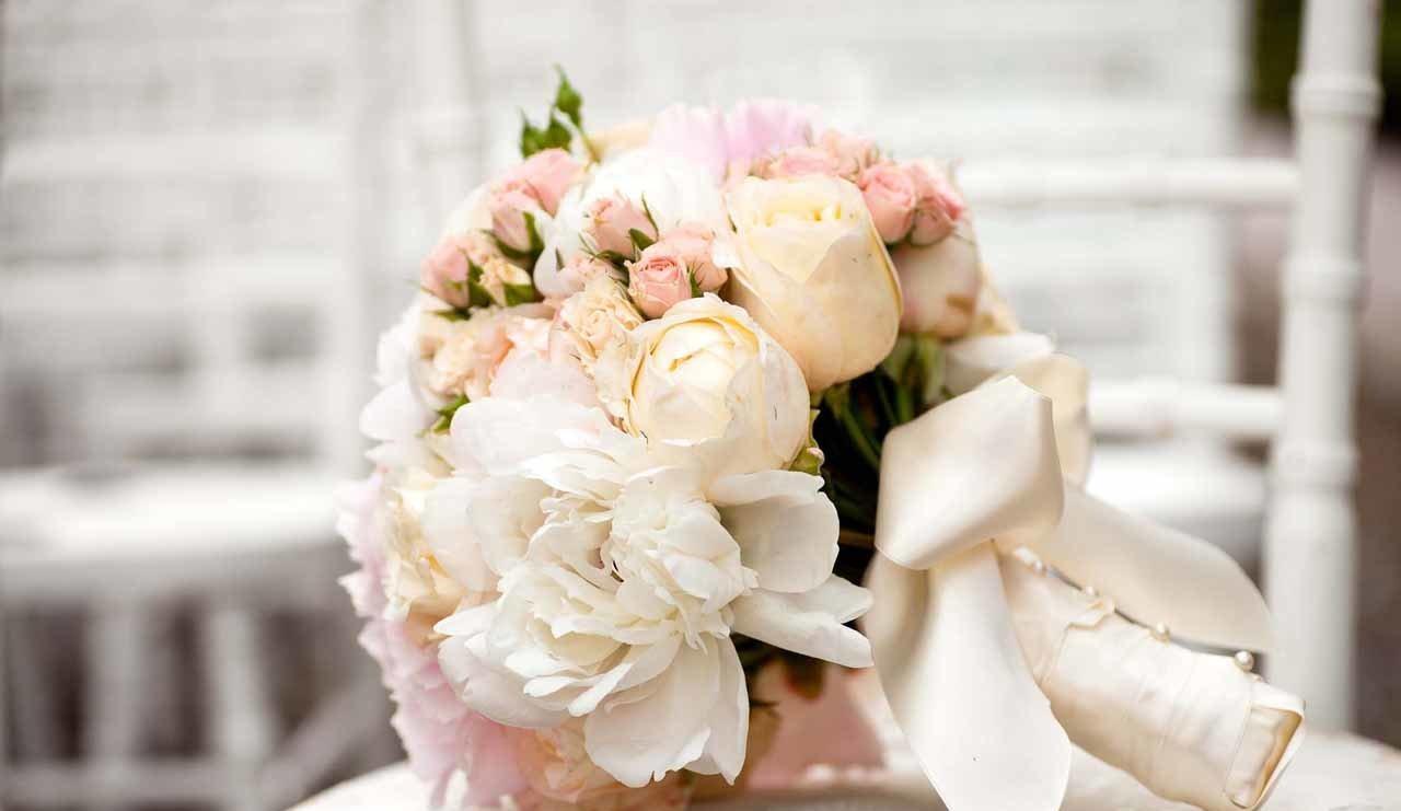 Un bouquet de mariée réalisé par nos fleuristes