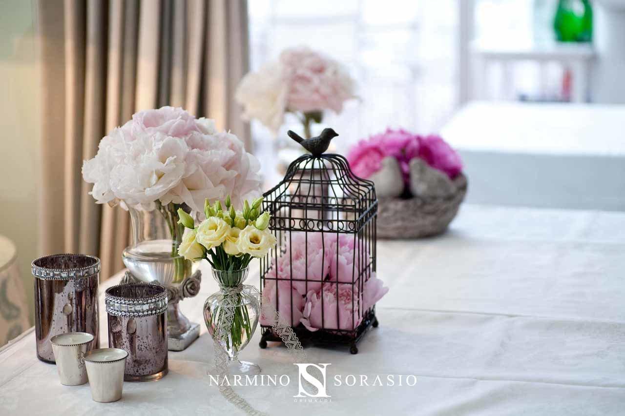 Décoration florale douce et pastel