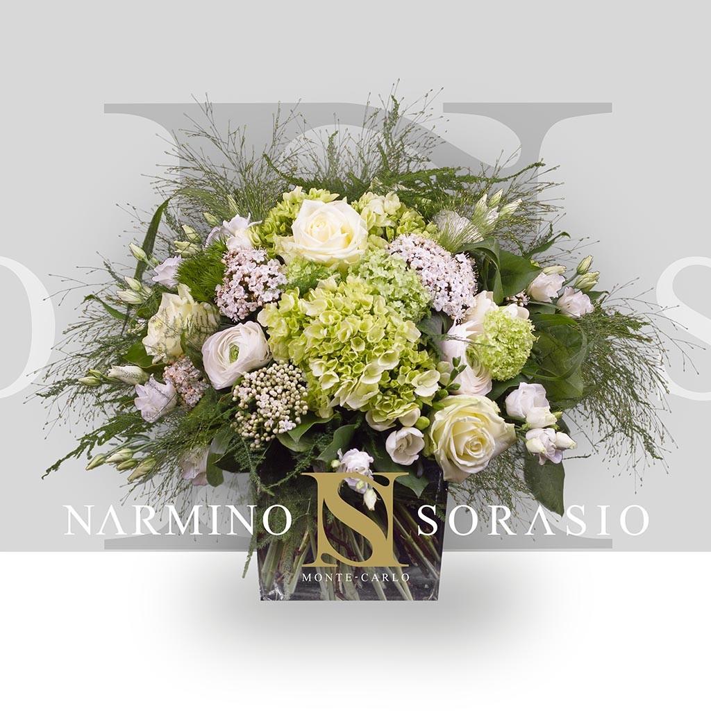Bouquet rond blanc