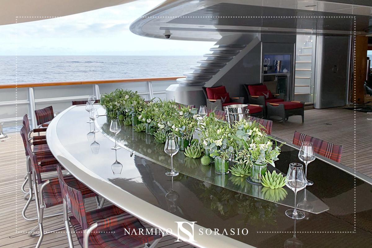 Décoration florale pour Yachts et bateaux