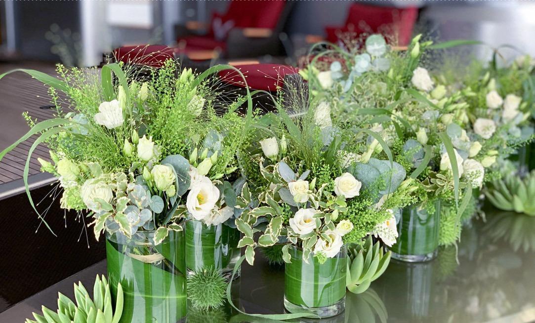 Une décoration florale de bateau par Narmino Fleurs
