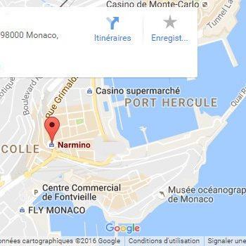 Plan d'accès à la boutique Grimaldi