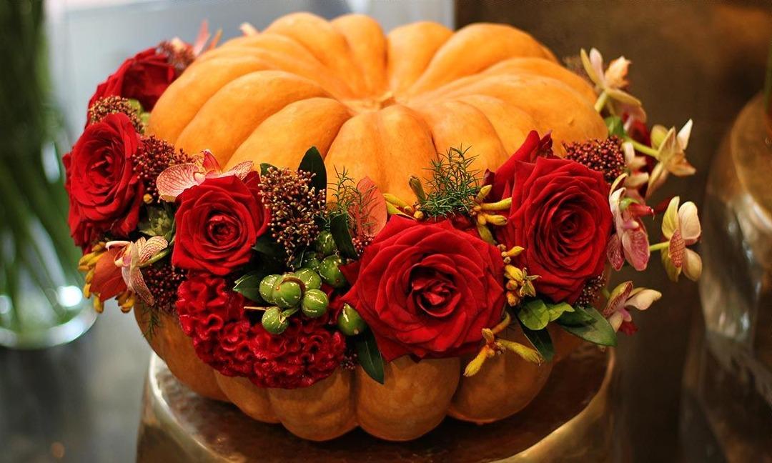Un travail de fleuriste autour du thème d'Halloween