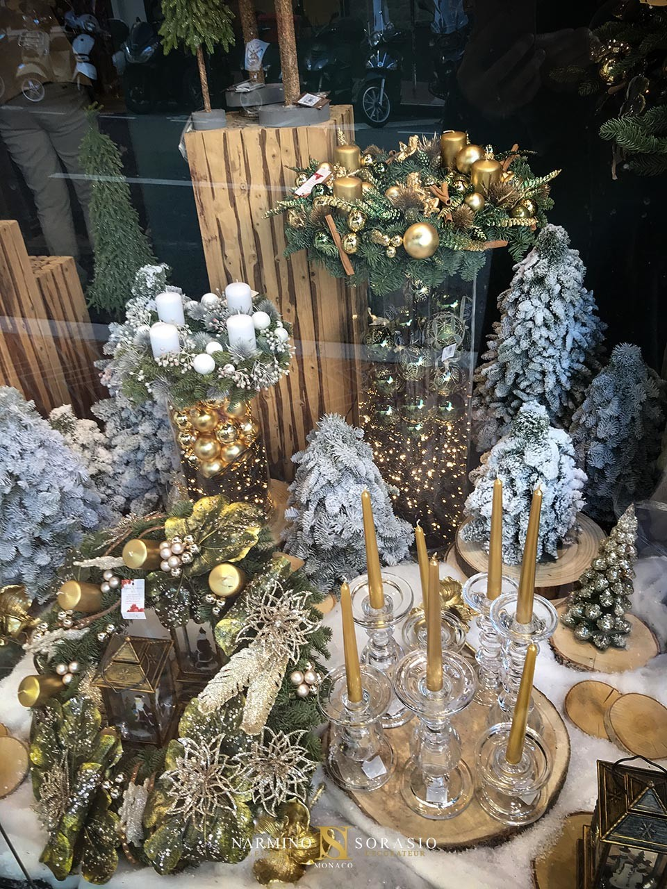 Décoration de Noël dans nos vitrines