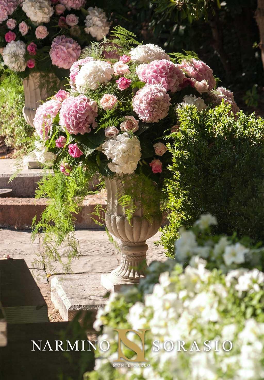 A flowery wedding in Saint-Jean-Cap-Ferrat