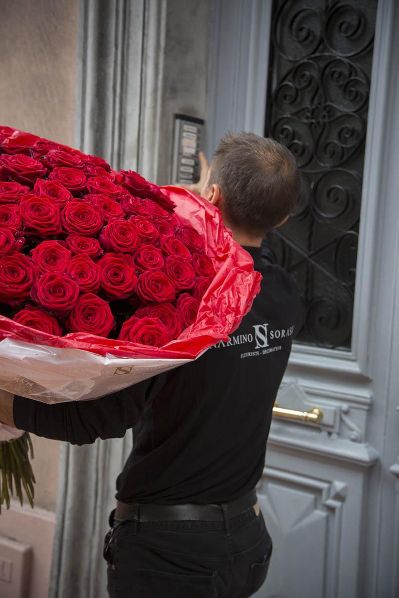Livraison de bouquets pour la Saint-Valentin