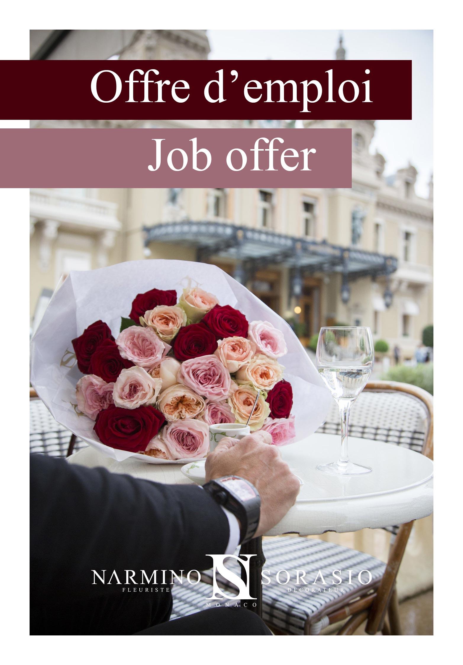 offre d'emploi de fleuriste