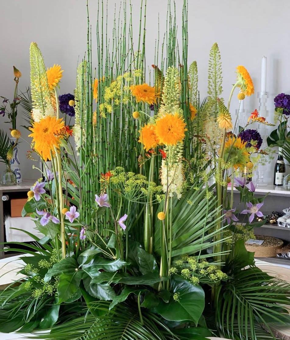 Une création florale originale pour un centre de table