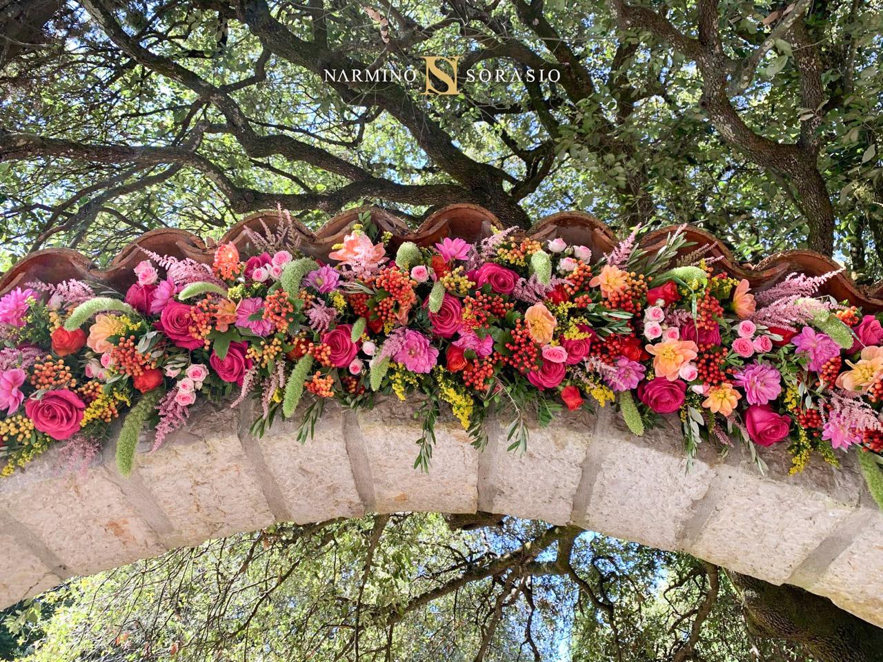 Floral decoration for a villa