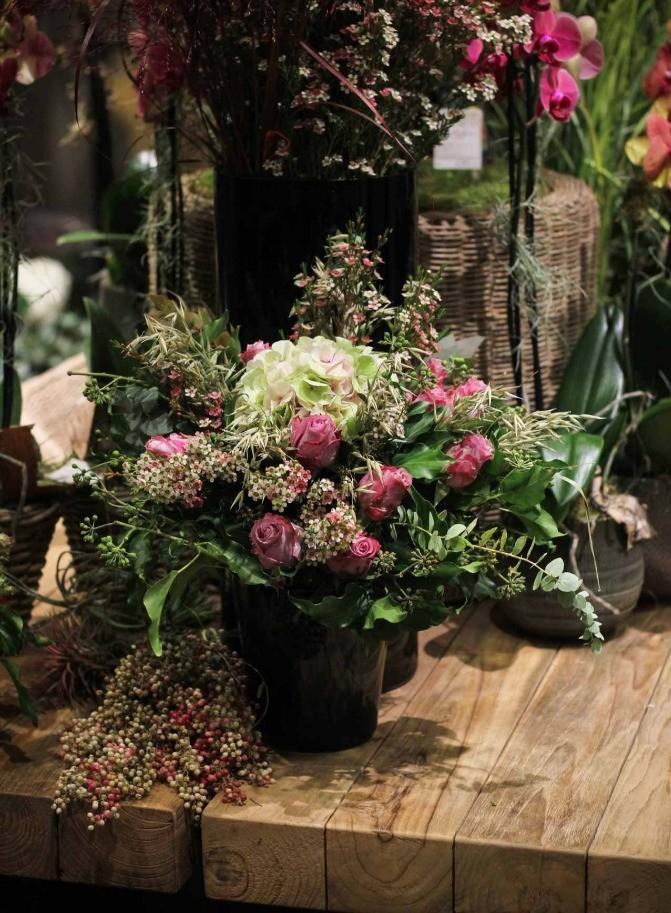 Un bouquet champêtre coloré et agréable