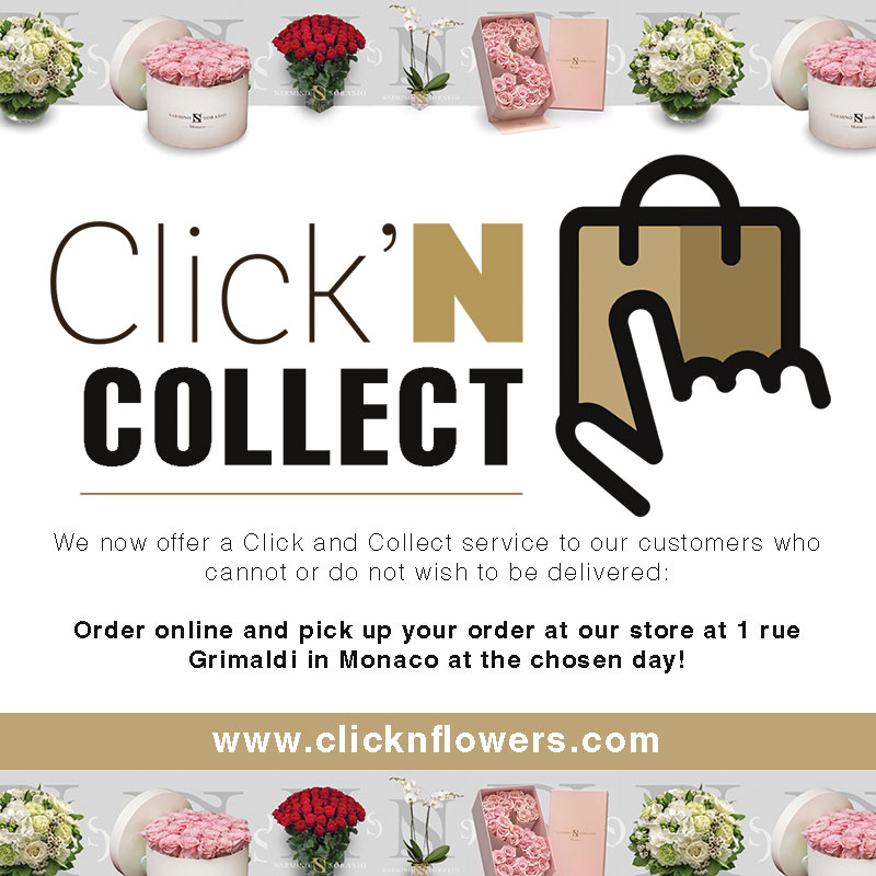 A click and collect service of flowers for Monaco