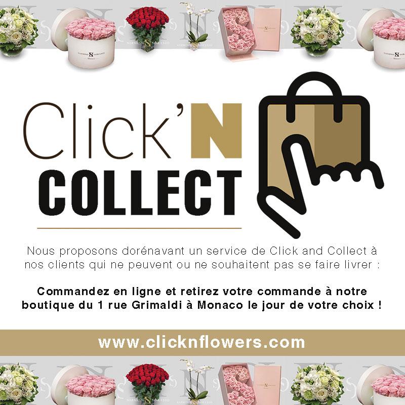 Click and Collect de fleurs et bouquets à Monaco