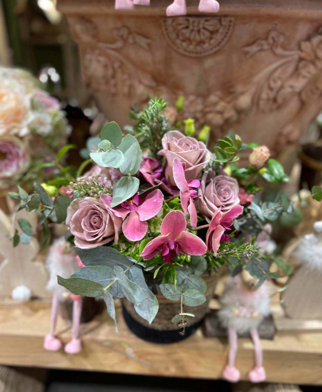 Un petit bouquet rose et pastel