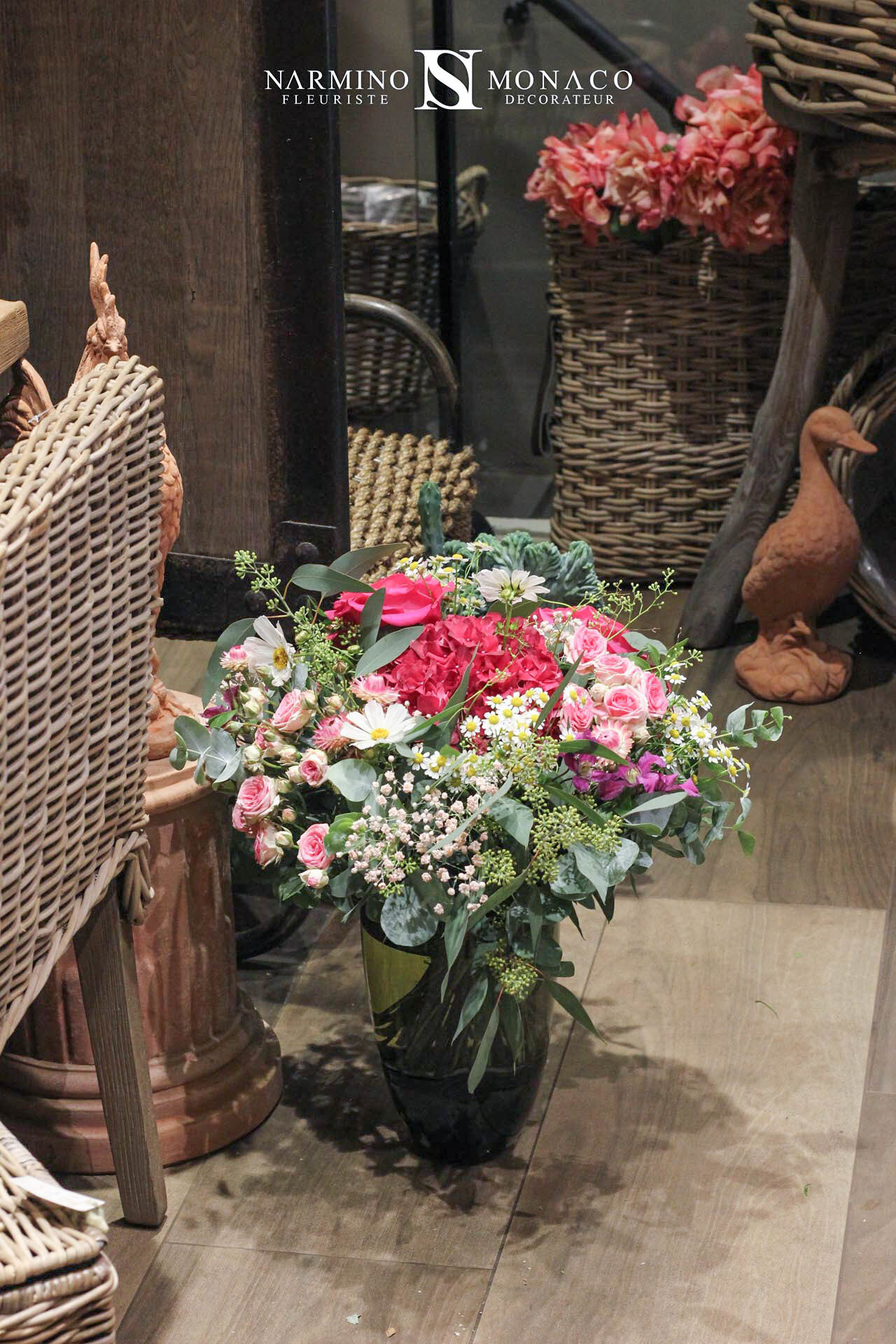 Un bouquet de saison rose