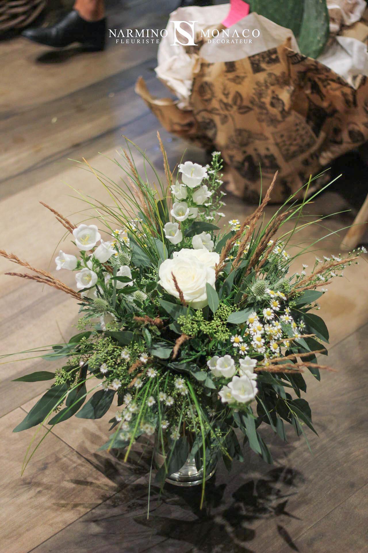 Un bouquet de saison blanc