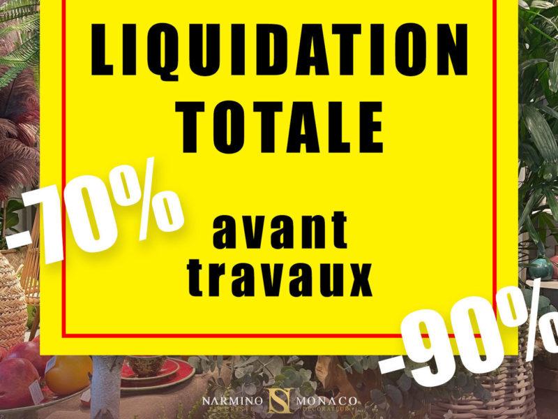 Liquidation totale avant travaux