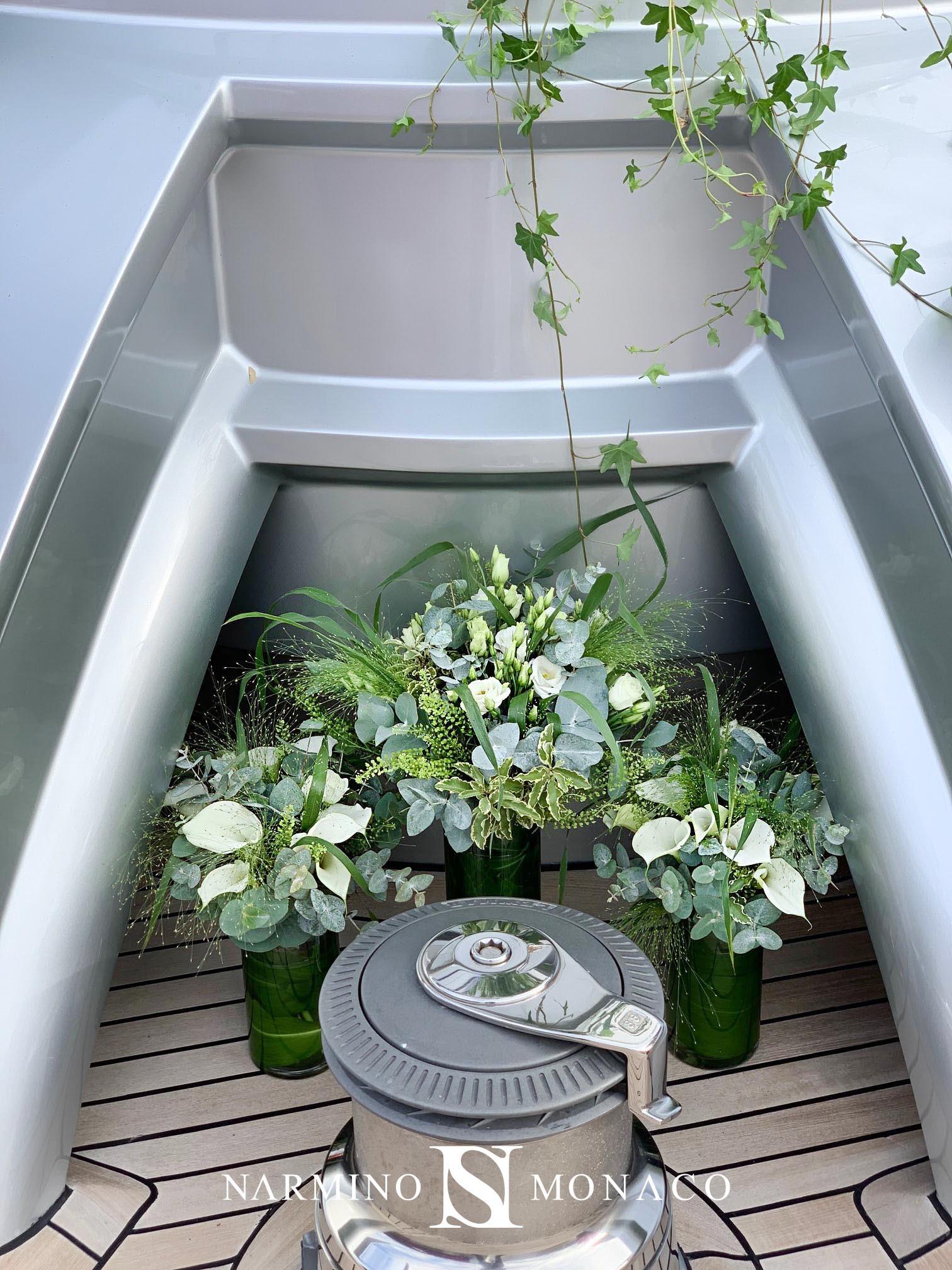 Décoration florale d'un Yacht